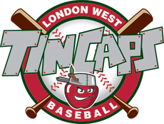 Logo for London West Baseball